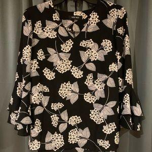 Nine West flower print blouse